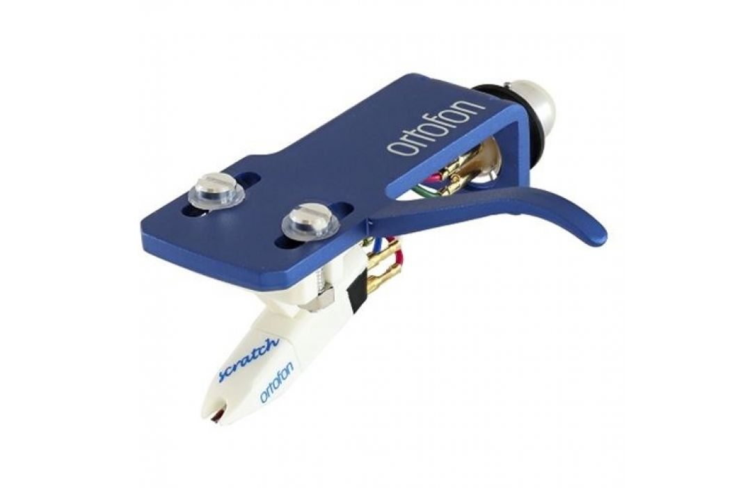 Ortofon DJ OM Scratch white + SH-4 blue headshell