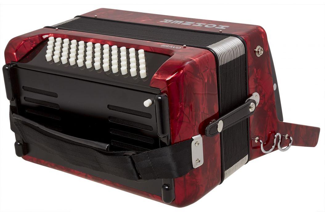 Hohner Bravo II 60 Red Silent Key