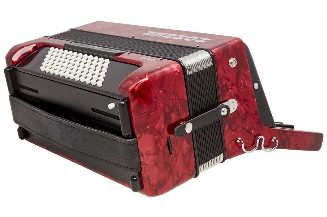 Hohner Bravo III 72 red (SilentKey)