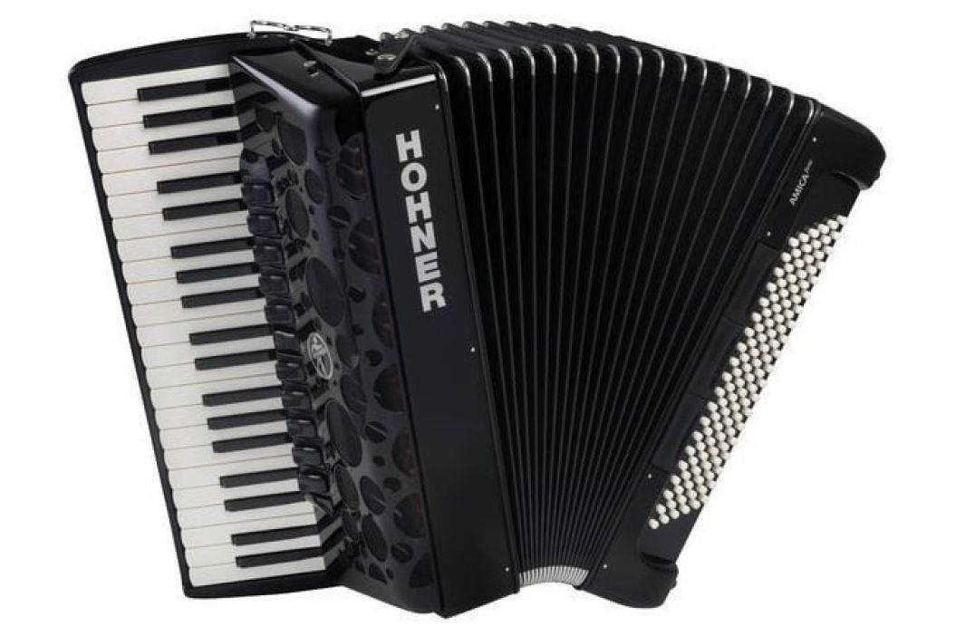 Hohner Amica Forte IV 120 black Silent Key