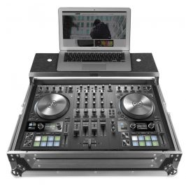 UDG Ultimate Flight Case NI Kontrol S4 MK3 Silver Plus (Laptop shelf)