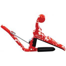 Kyser Quick-Change Ukulele Capo Red Hibiscus