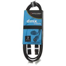 ADJ AC-DMX3/3 3 p. XLRm/3 p. XLRf 3m DMX
