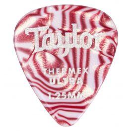 Taylor Premium Darktone Thermex Ultra Picks 351 Ruby Swirl 1.25