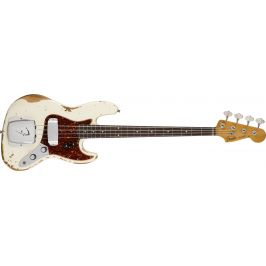 Fender 1960 Jazz Bass Heavy Relic, Rosewood Fingerboard, Aged Olympic