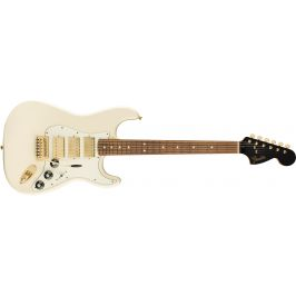 Fender Ltd Mahogany Blacktop Stratocaster HHH PF OW