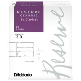 D'Addario Rico Reserve Classic Bb Clarinet 10 - 3.0