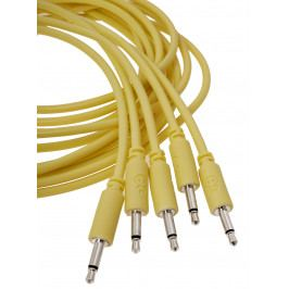 Erica Synths Eurorack patch cables 20cm, 5 pcs yellow