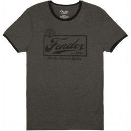 Fender Beer Label Ringer T-Shirt Dark Grey L