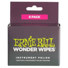 Ernie Ball Wonder Wipes Instrument Polish 6-Pack