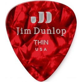 Dunlop Celluloid Red Pearl Thin