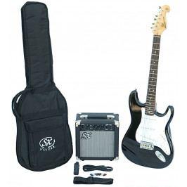 SX SE1 Electric Guitar Kit Black