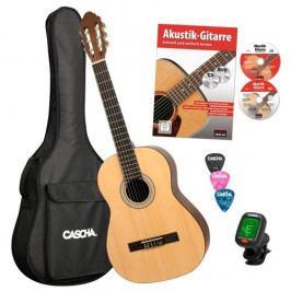 Cascha HH 2043 DE Classical Guitar 4/4 Bundle