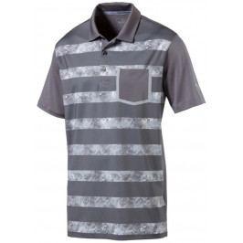 Puma Mens Tailored Camo Stripe Polo Quiet Shade M