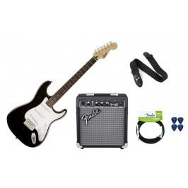 Fender Squier Bullet Strat with Tremolo IL Black Pack