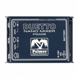Palmer DUETTO - Nano Mixer for Guitars and Line Signals