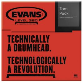 Evans Black Chrome Tom Pack - Fusion